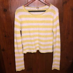 Sweaters - Yellow & White Long Sleeved Sweater